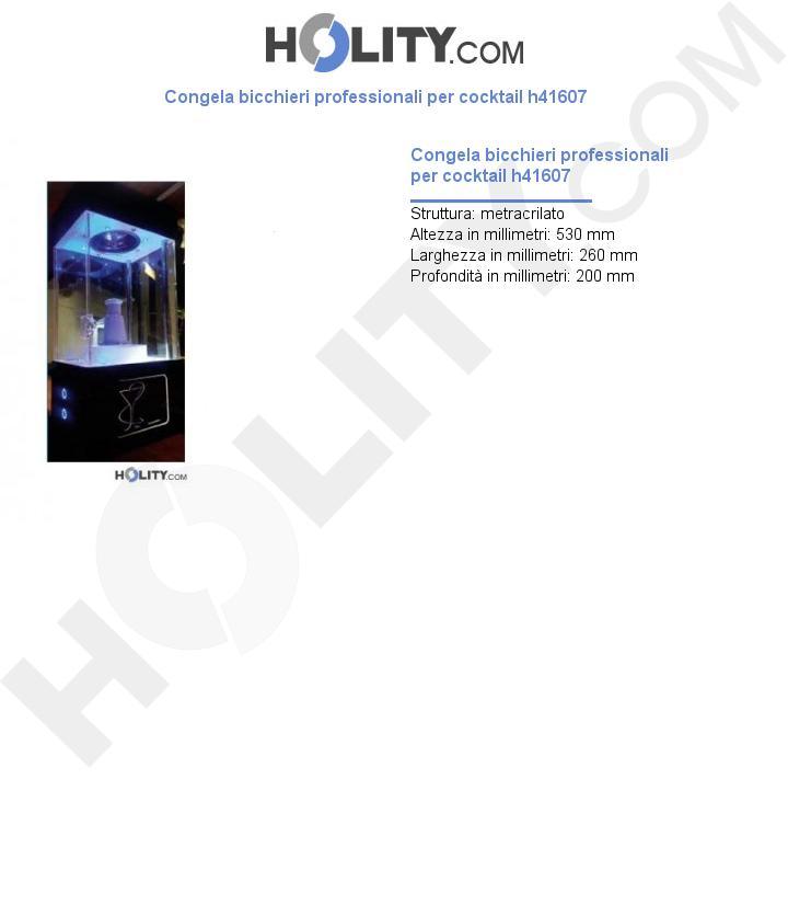 Congela bicchieri professionale per cocktail h41607