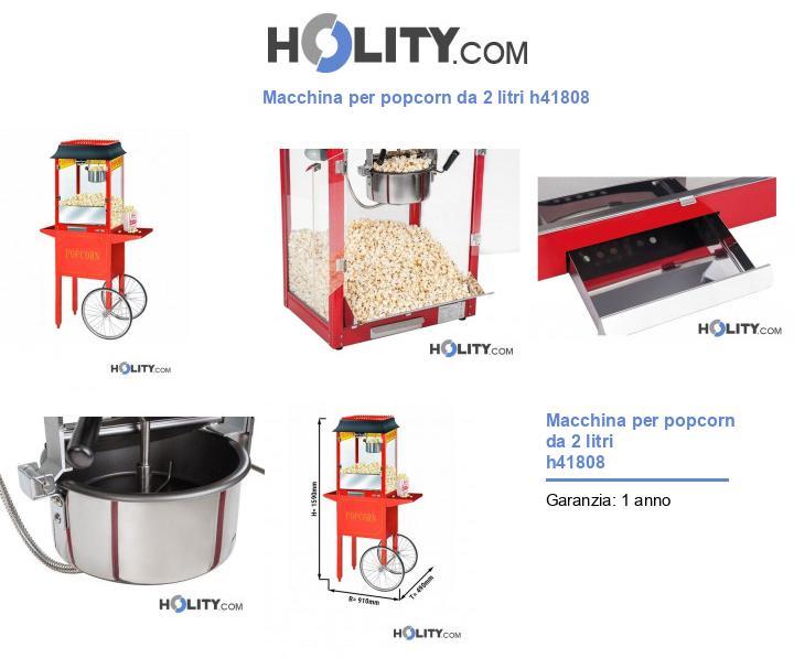 Macchina per popcorn da 2 litri h41808