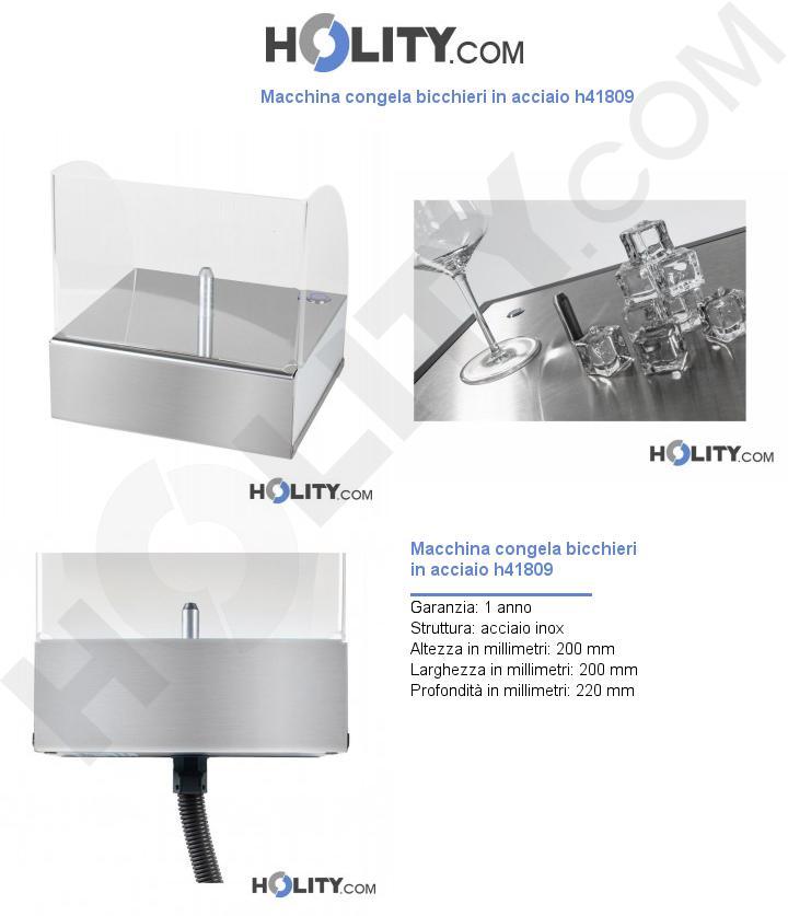 Macchina congela bicchieri in acciaio h41809