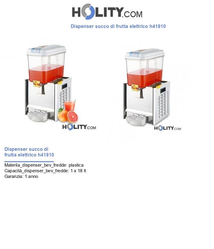 Dispenser succo di frutta elettrico h41810
