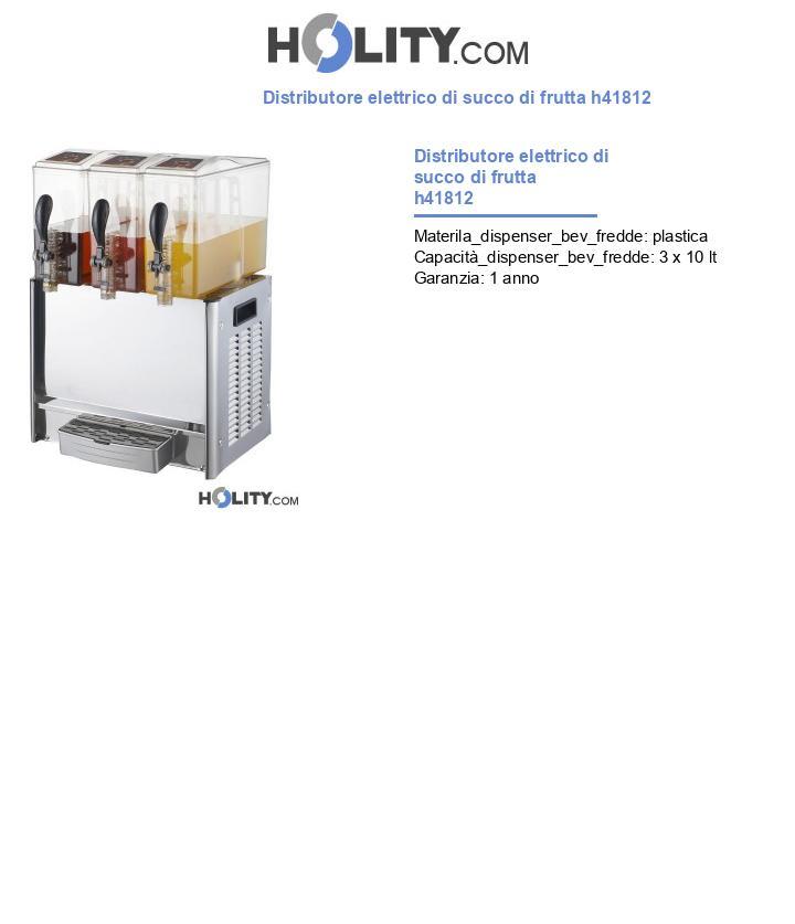 Distributore elettrico di succo di frutta h41812
