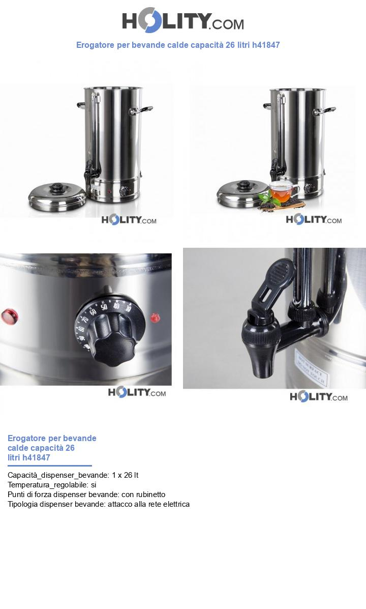 Erogatore per bevande calde capacità 26 litri h41847