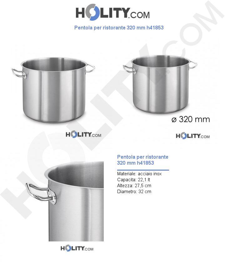 Pentola per ristorante 320 mm h41853