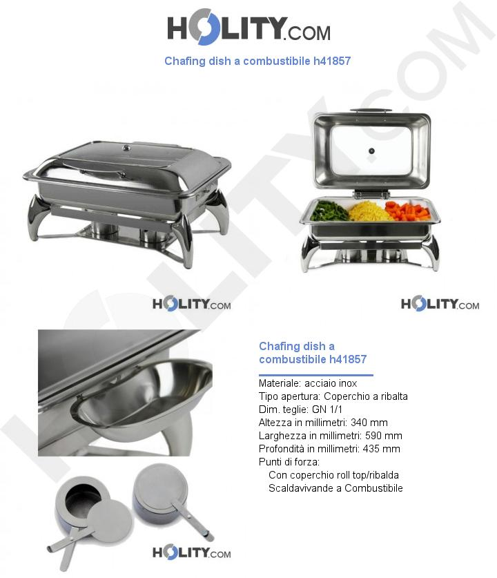 Chafing dish a combustibile h41857