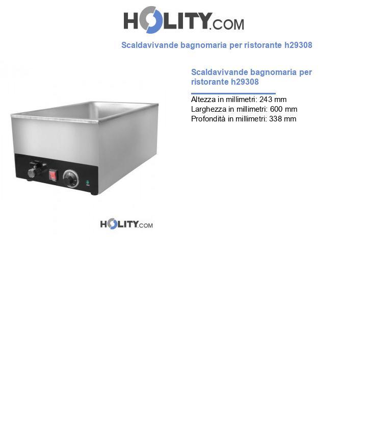 Scaldavivande bagnomaria per ristorante h29308