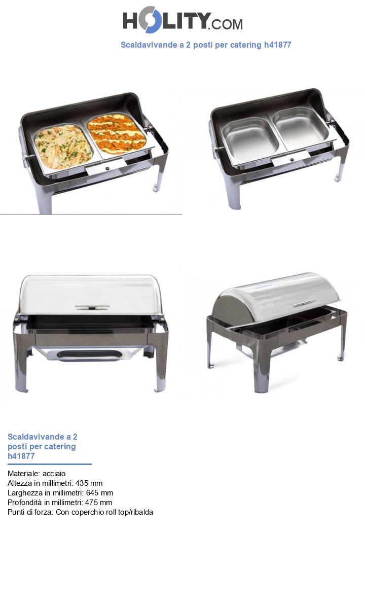 Scaldavivande a 2 posti per catering h41877