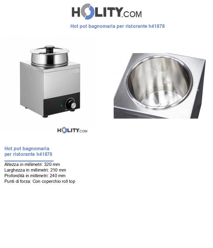 Hot pot bagnomaria per ristorante h41878