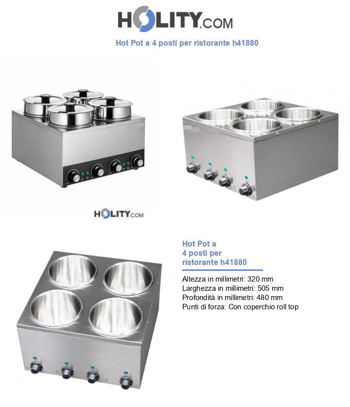 Hot Pot a 4 posti per ristorante h41880