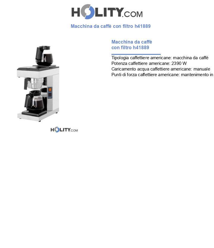 Macchina da caffè con filtro h41889