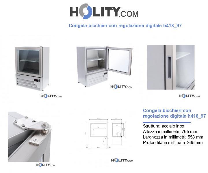 Congela bicchieri con regolazione digitale h418_97