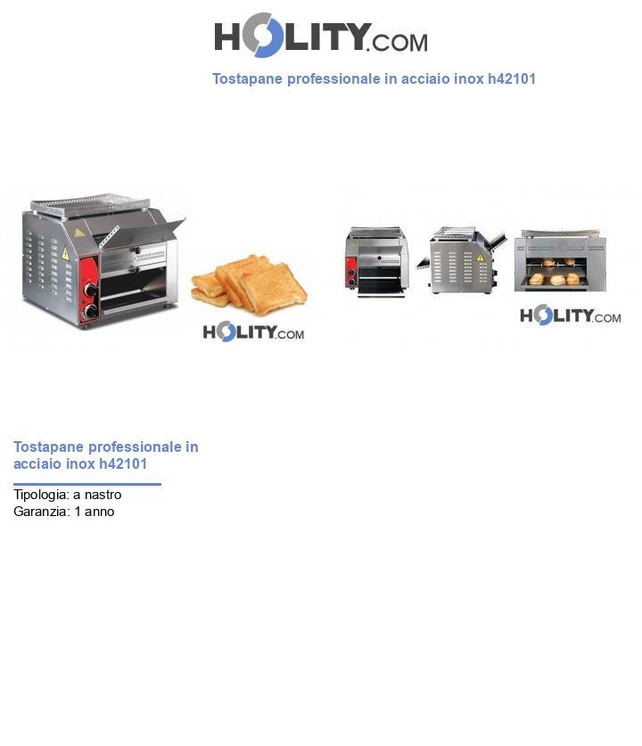 Tostapane professionale in acciaio inox h42101