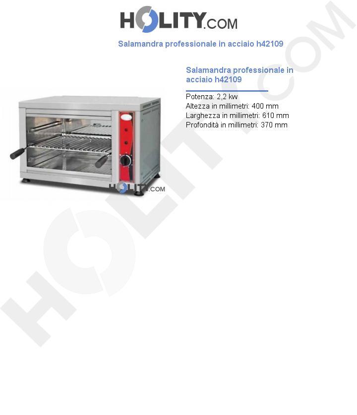 Salamandra professionale in acciaio h42109