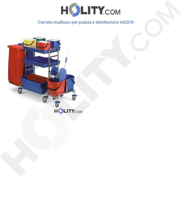 Carrello multiuso per pulizia e disinfezione h42219