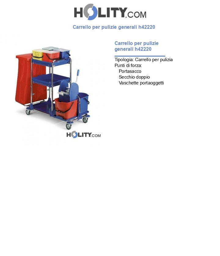 Carrello per pulizie generali h42220
