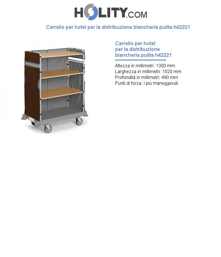Carrello per hotel per la distribuzione biancheria pulita h42221