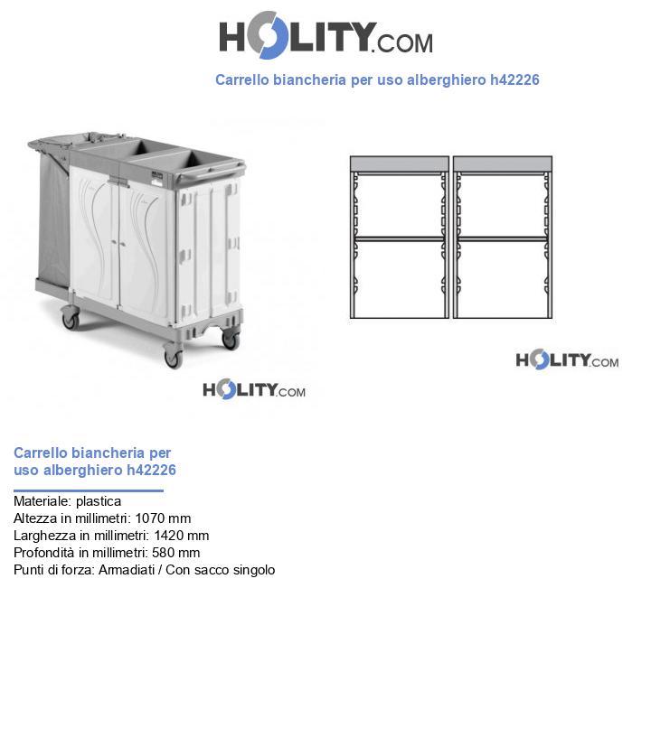 Carrello biancheria per uso alberghiero h42226