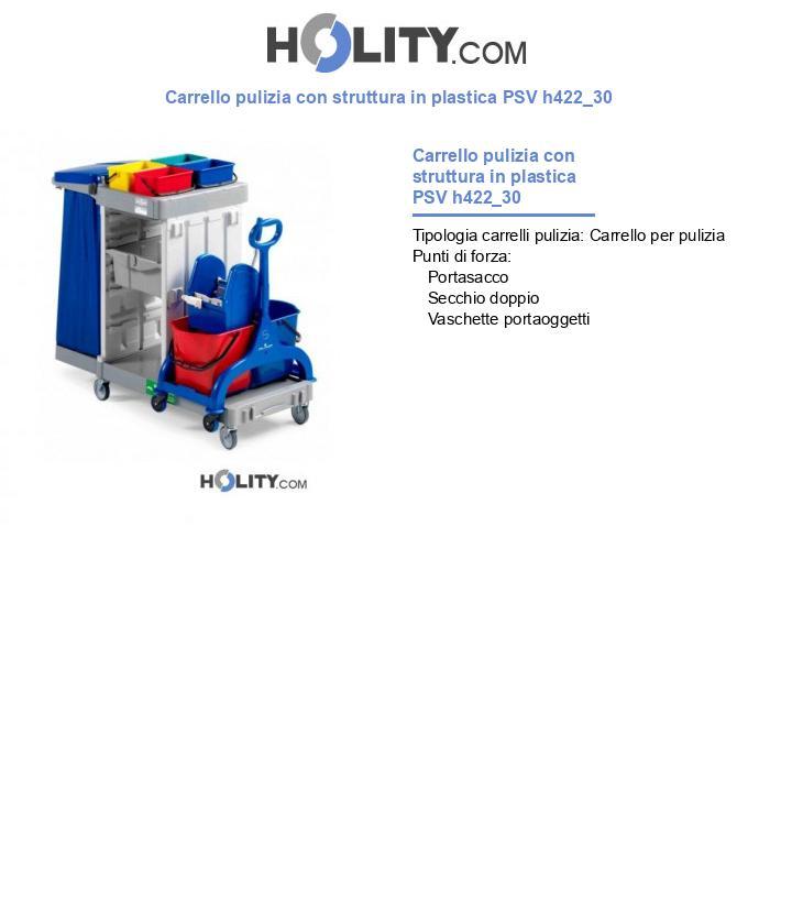 Carrello pulizia con struttura in plastica PSV h422_30