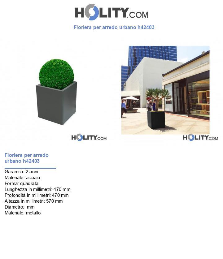 Fioriera per arredo urbano h42403