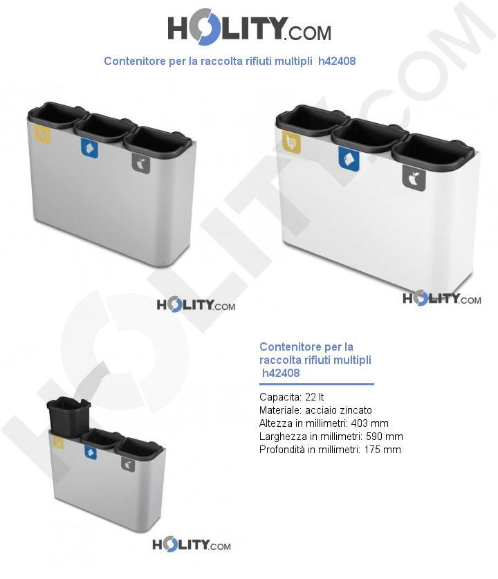 Contenitore per la raccolta rifiuti multipli  h42408
