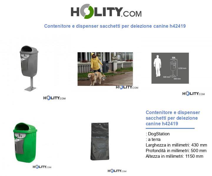 Contenitore e dispenser sacchetti per deiezione canine h42419