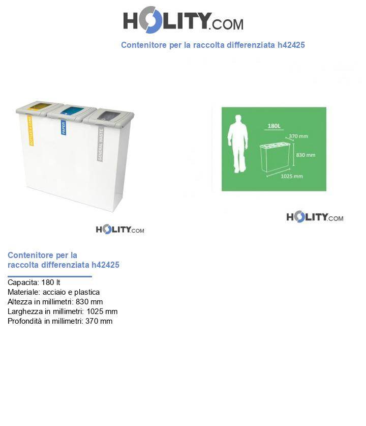 Contenitore per la raccolta differenziata h42425