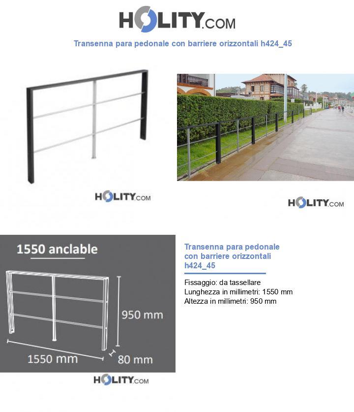 Transenna para pedonale con barriere orizzontali h424_45