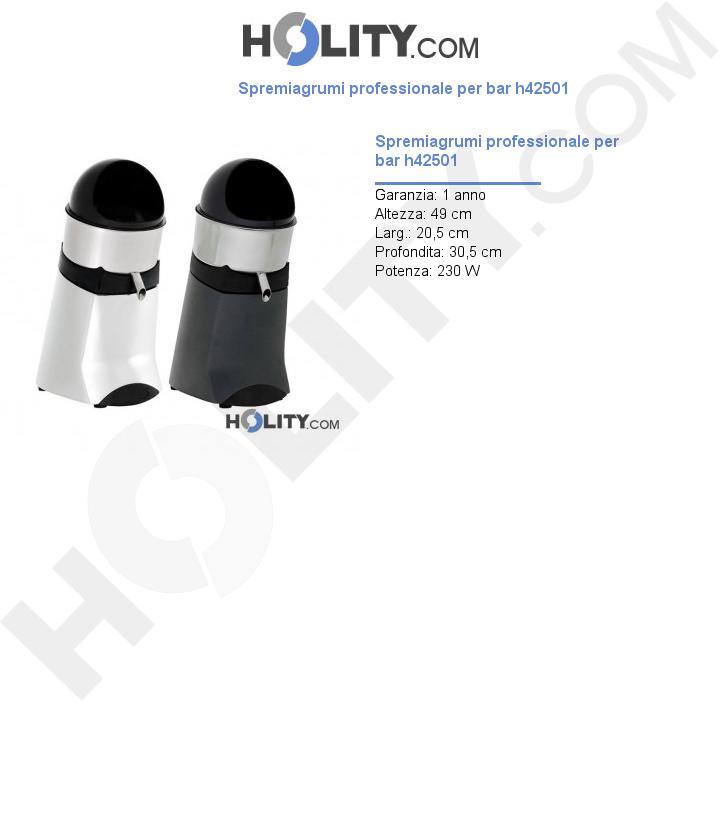 Spremiagrumi professionale per bar h42501