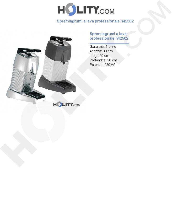 Spremiagrumi a leva professionale h42502