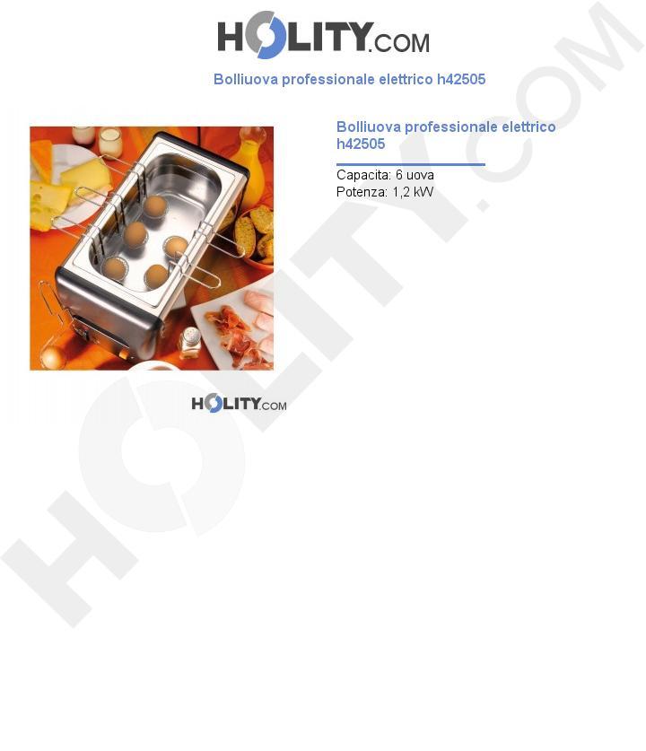 Bolliuova professionale elettrico h42505