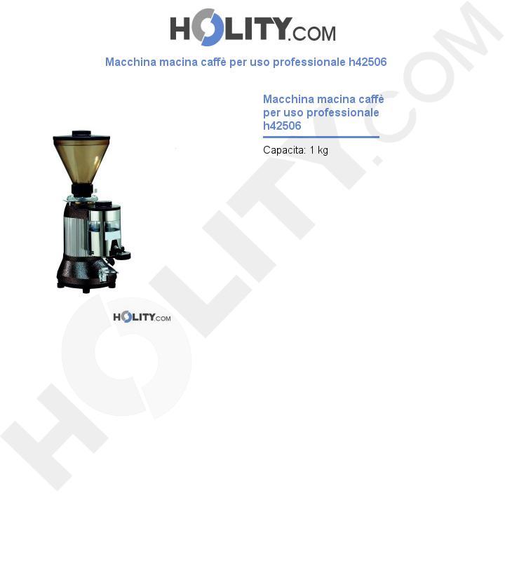 Macchina macina caffè per uso professionale h42506