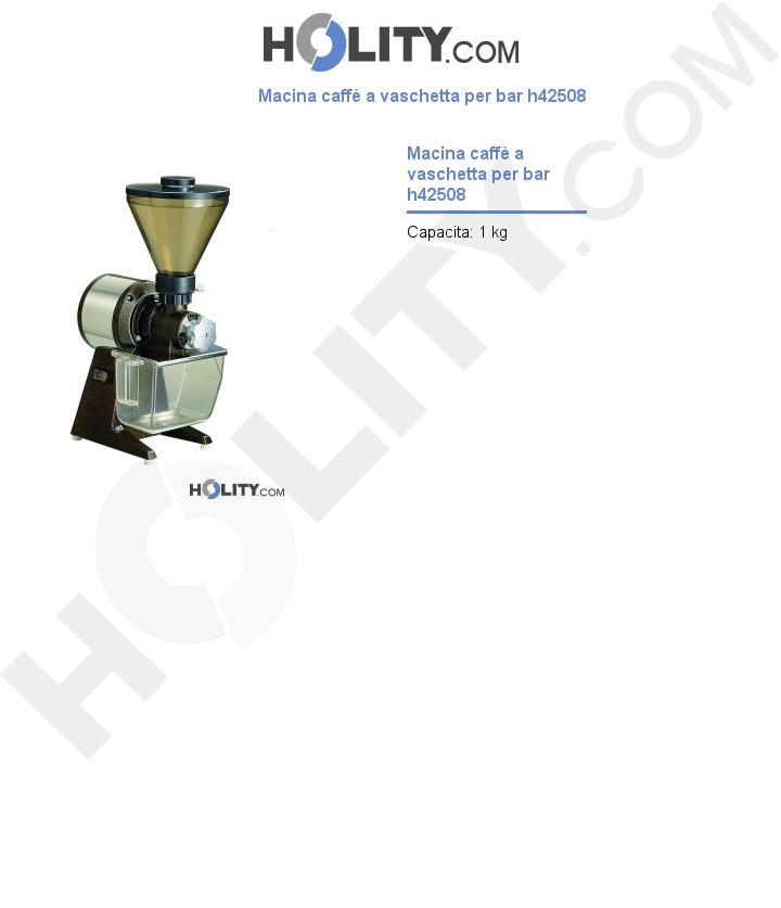 Macina caffè a vaschetta per bar h42508