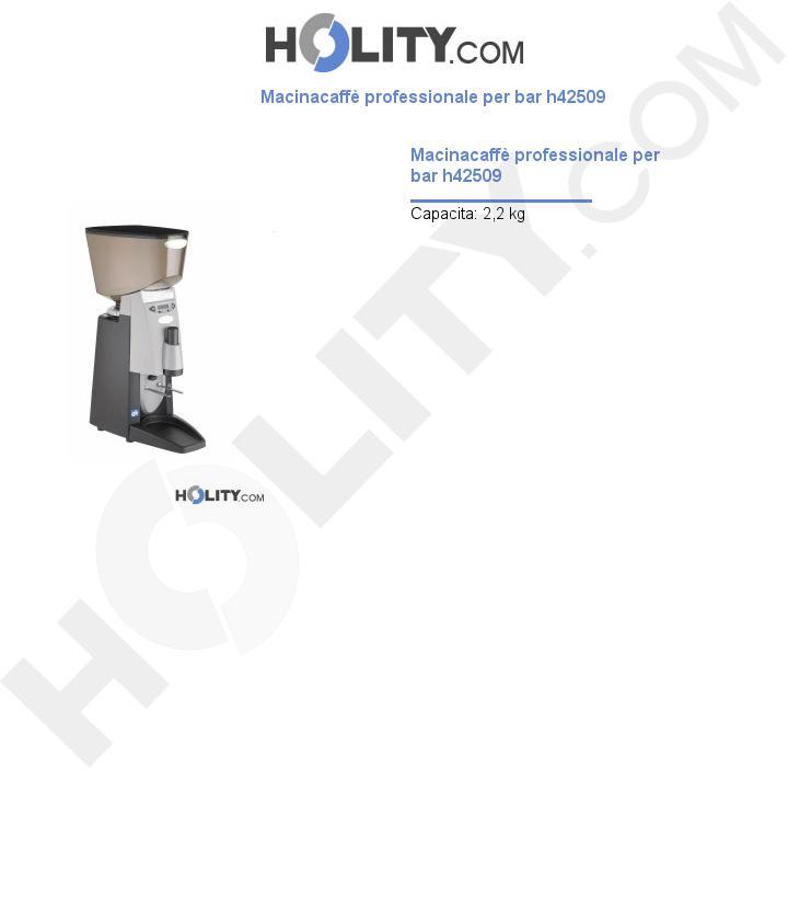 Macinacaffè professionale per bar h42509