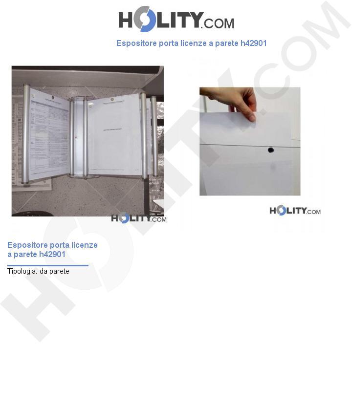 Espositore porta licenze a parete h42901