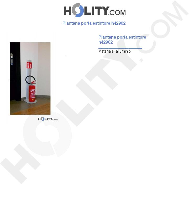 Piantana porta estintore h42902