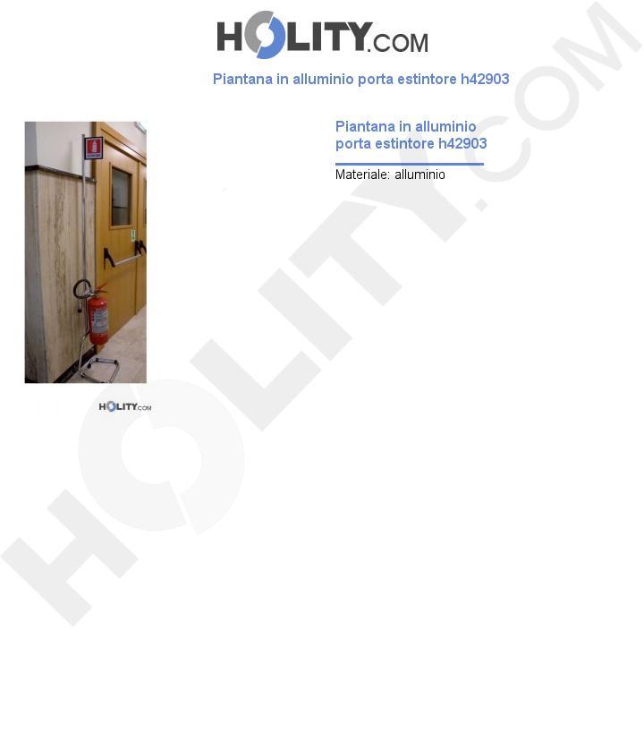 Piantana in alluminio porta estintore h42903