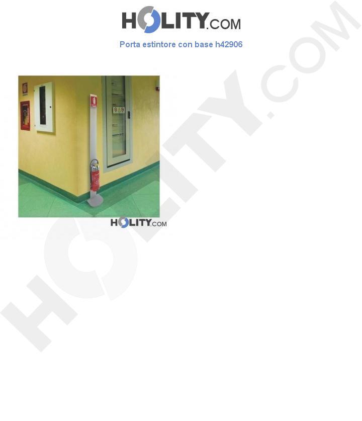 Porta estintore con base h42906