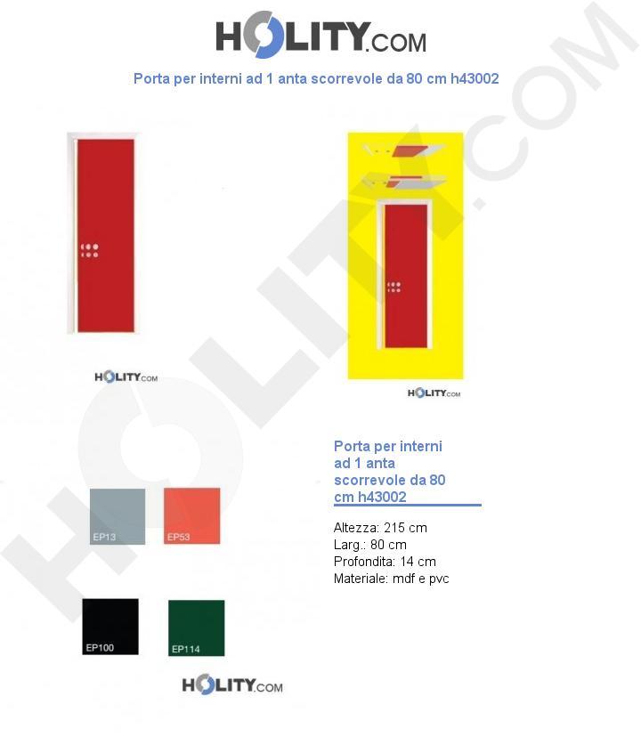 Porta per interni ad 1 anta scorrevole da 80 cm h43002