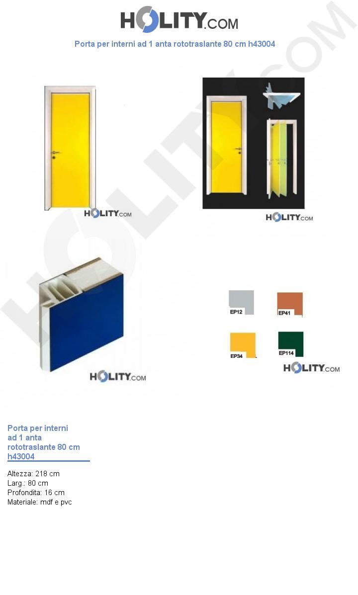Porta per interni ad 1 anta rototraslante 80 cm h43004