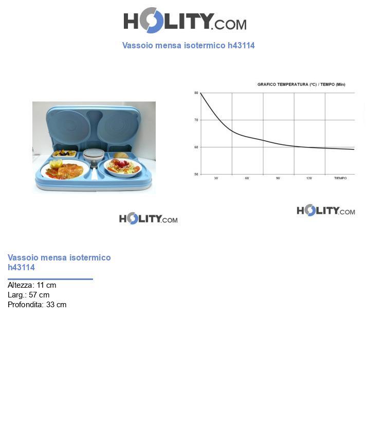 Vassoio mensa isotermico h43114