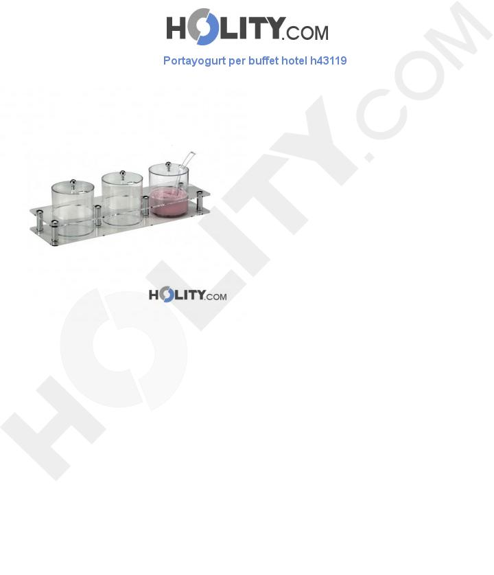 Portayogurt per buffet hotel h43119