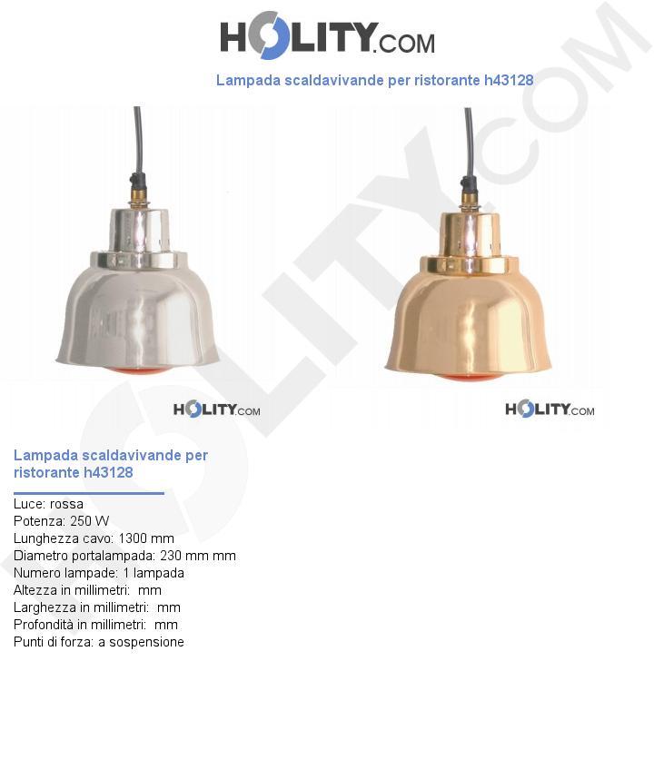 Lampada scaldavivande per ristorante h43128