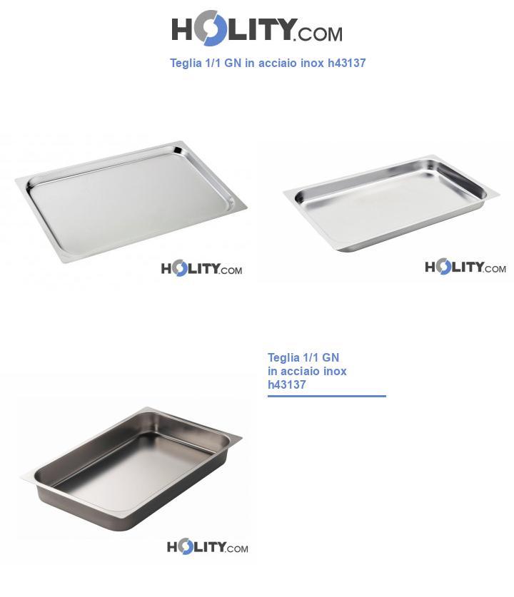Teglia 1/1 GN in acciaio inox h43137