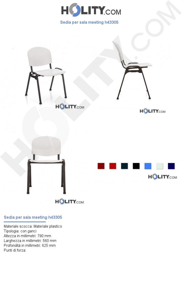 Sedia per sala meeting h43305