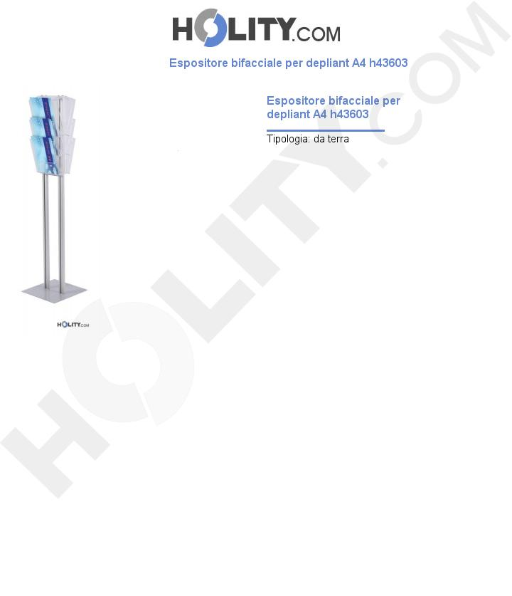 Espositore bifacciale per depliant A4 h43603
