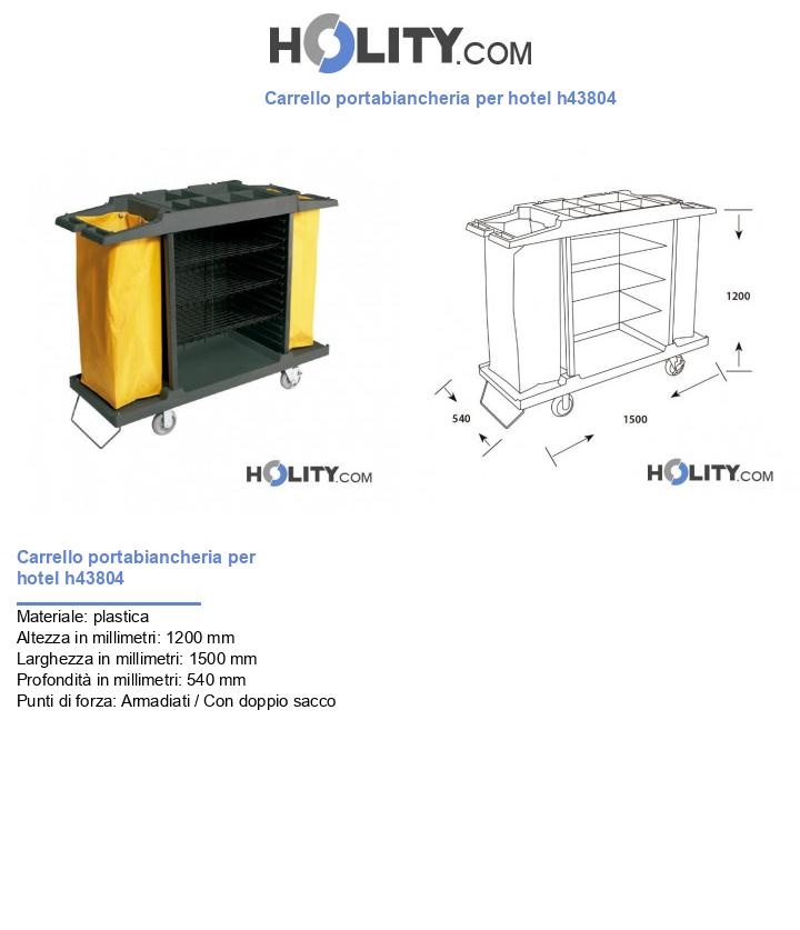 Carrello portabiancheria per hotel h43804