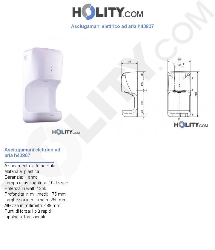 Asciugamani elettrico ad aria h43807