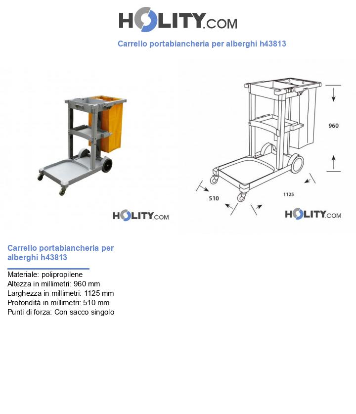 Carrello portabiancheria per alberghi h43813