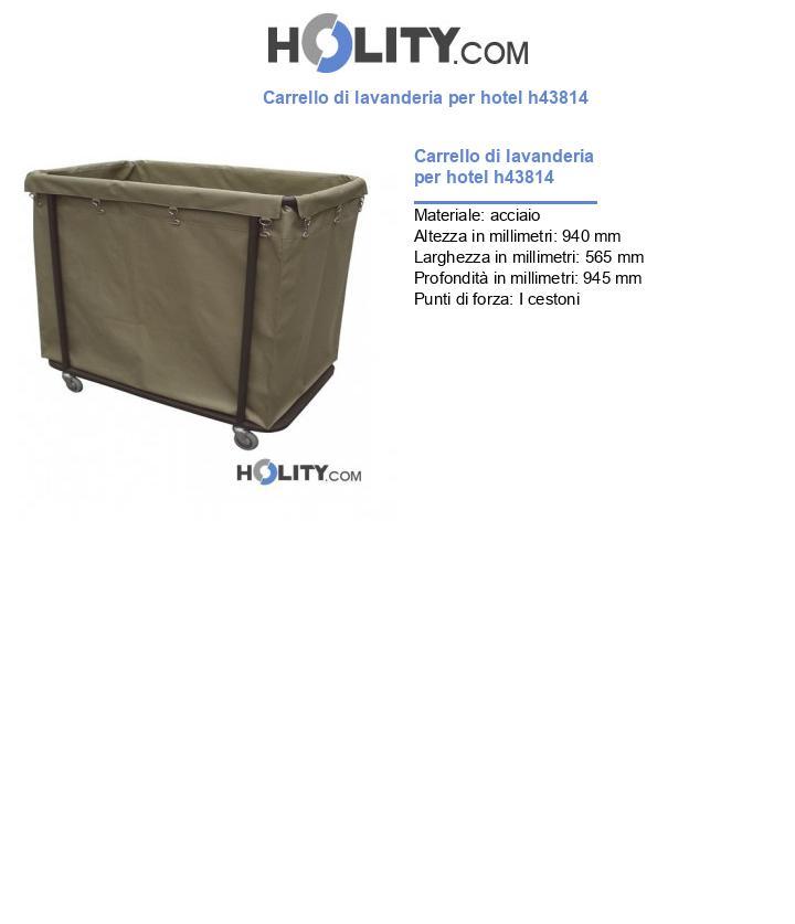 Carrello di lavanderia per hotel h43814