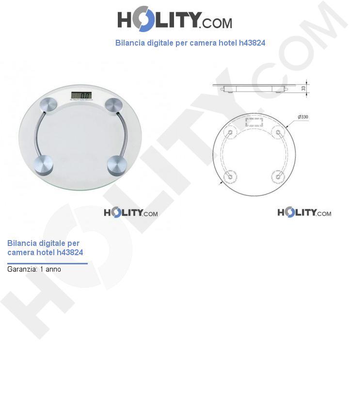 Bilancia digitale per camera hotel h43824