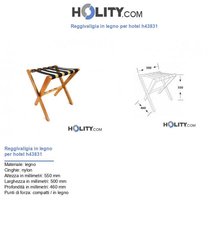 Reggivaligia in legno per hotel h43831